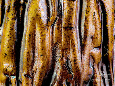 Rough Abstract Ceramic Surface Art Print by Kerstin Ivarsson
