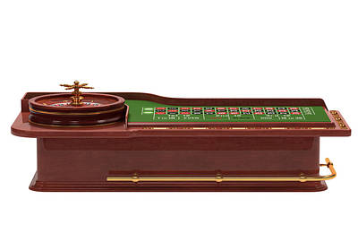 Roulettes Photograph - Roulette Table by Ktsdesign