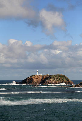 Photograph - Round Island Lighthouse Isles Of Scilly by Anthony Collins