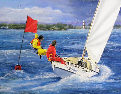 Rounding The Mark Art Print