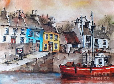 Roundstone Harbour  Galway Original by Val Byrne