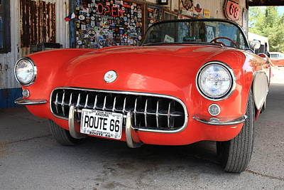 Photograph - Route 66 Corvette by Frank Romeo