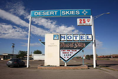 Gallup Photograph - Route 66 - Desert Skies Motel by Frank Romeo
