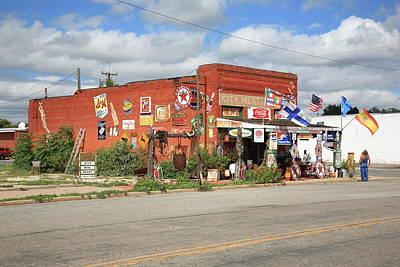 Route 66 - Sandhills Curiosity Shop Art Print by Frank Romeo