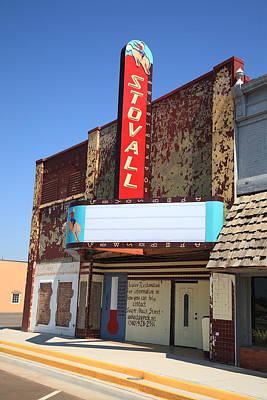 Route 66 - Stovall Theater Art Print by Frank Romeo