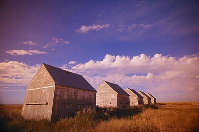 Row Of Old Farm Houses Print by Kelly Redinger