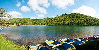 Rowboats In A Pond, Las Terrazas, Pinar Art Print