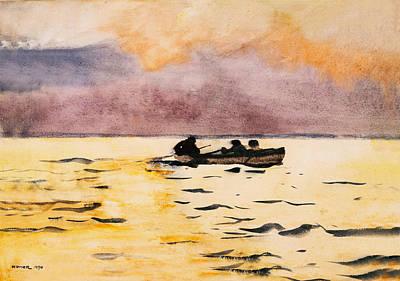 Rowing Home Art Print