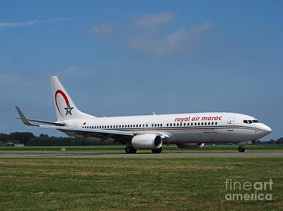 Klm Photograph - Royal Air Maroc Boeing 737 by Paul Fearn