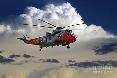 Searching Digital Art - Royal Navy Rescue by J Biggadike