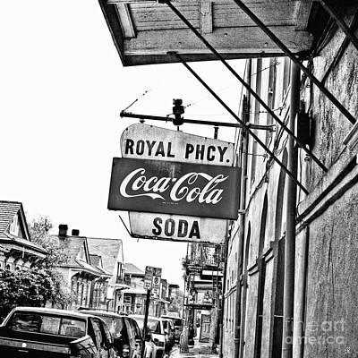 Royal Pharmacy Soda Sign - Surreal Bw Art Print