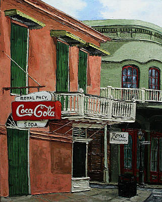 Drug Stores Painting - Royal Phcy by Robert Sutton