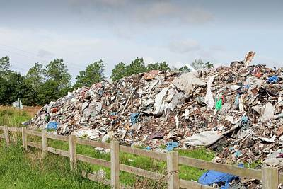 Waste Photograph - Rubbish Dumped On Wasteland by Ashley Cooper