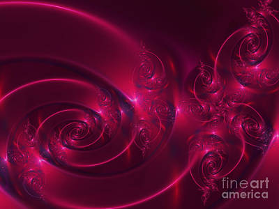 Digital Art - Ruby Red by Lena Auxier