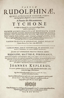 Title Page Photograph - 'rudolphine Tables' (1627) by Library Of Congress
