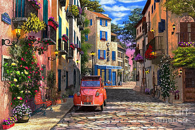 Relax Digital Art - Rue Francais by Dominic Davison