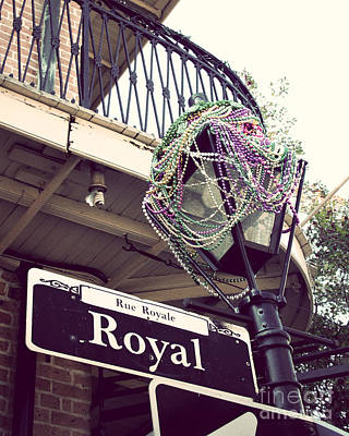 Mardi Gras Beads Photograph - Rue Royale by Jillian Audrey Photography
