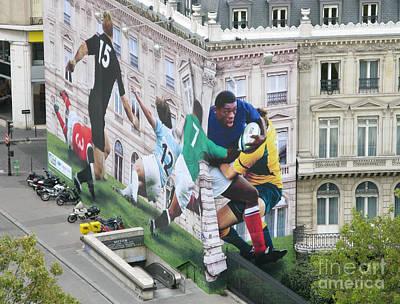 Rugby In Paris Art Print