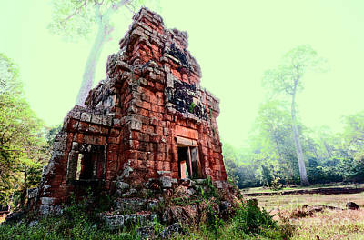 Photograph - Ruin At Angkor Wat by Julian Cook