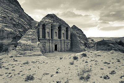 Ruins Of Ad Deir Monastery At Ancient Art Print