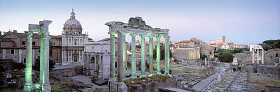 Rome Photograph - Ruins Of An Old Building, Rome, Italy by Panoramic Images