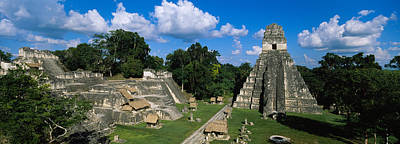 Ruins Photograph - Ruins Of An Old Temple, Tikal, Guatemala by Panoramic Images