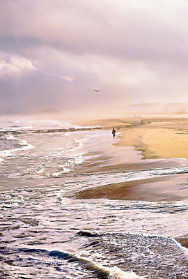 Run For The Wave Art Print by William Walker