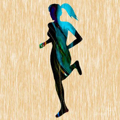 Runner Mixed Media - Runner by Marvin Blaine