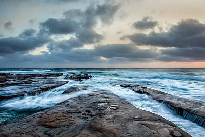 Image Type Photograph - Rushing Seas by Peter Tellone