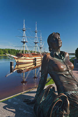 Floating Girl Photograph - Russia, Novgorod Oblast, Veliky by Walter Bibikow