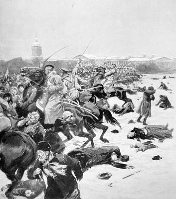 Bloody Battle Drawing - Russia Revolution Of 1905 by Granger