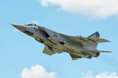 Foxhound Photograph - Russian Air Force Mig-31bm Taking by Daniele Faccioli