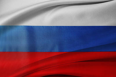 Waving Flag Photograph - Russian Flag by Les Cunliffe