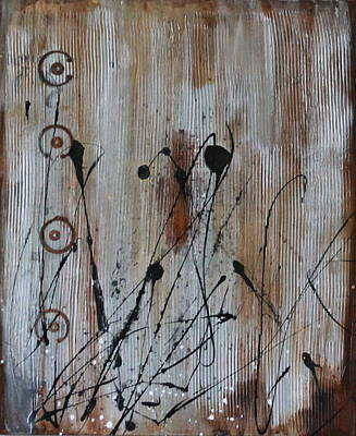 Rivets Mixed Media - Rusted by Lauren Petit