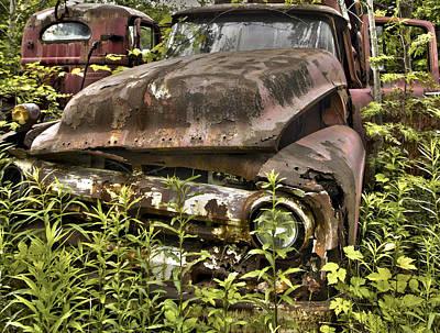 Rusty And Crusty Truck Art Print