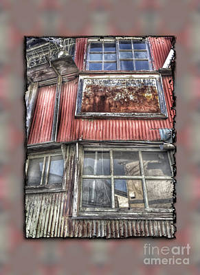 Photograph - Rusty Grungy Weathered Abandoned Building Exterior by Beverly Claire Kaiya