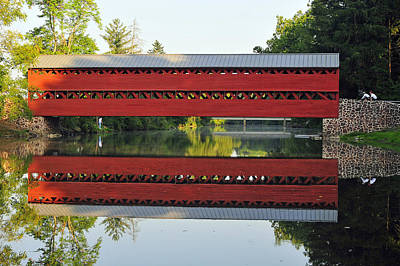 Art Print featuring the photograph Sachs Covered Bridge by Dan Myers