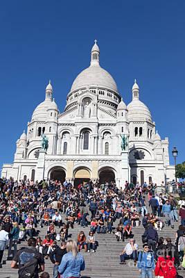 Paris Digital Art - Sacre Coeur Basilica  Paris by Liz Leyden