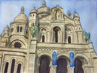 Sacre Coeur Painting - Sacre Coeur by Henrieta Maneva
