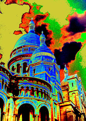 Kunst Mixed Media - Sacre Coeur No. 02 by Ramon Labusch