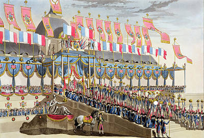 Napoleon Bonaparte Drawing - Sacred Festival And Coronation by Louis Le Coeur