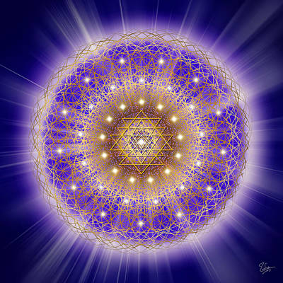 Digital Art - Sacred Geometry 197 by Endre Balogh