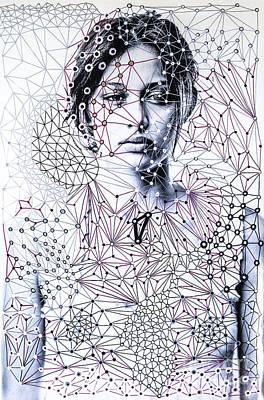 Sacred Geometry Mixed Media Art By Maria Lankina Original
