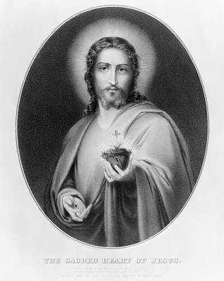 1850s Painting - Sacred Heart Of Jesus by Granger