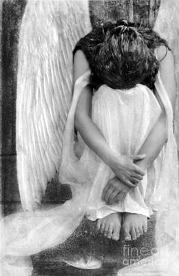 Sad Angel Woman Art Print
