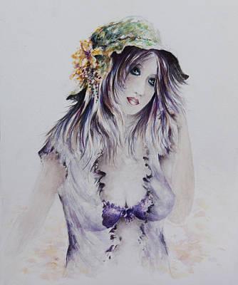 Introspective Painting - Sadie by Rachel Christine Nowicki