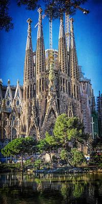 Stone Buildings Photograph - Sagrada Familia Nativity Facade by Joan Carroll