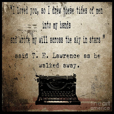 Said T E Lawrence Print by Cinema Photography