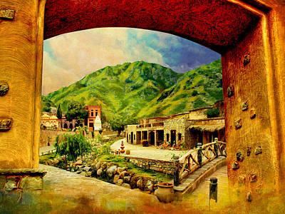 Kim Painting - Saidpur Village by Catf