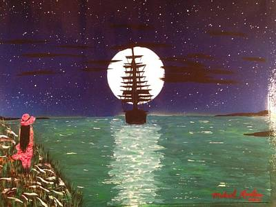 Art Print featuring the painting Sail Away by Michael Rucker